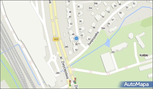 Gdynia, Światowida, 50, mapa Gdyni