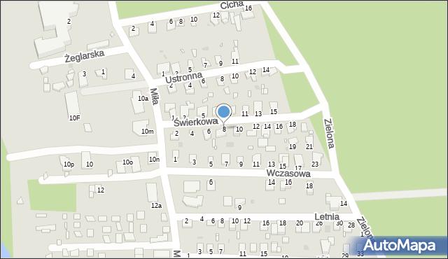 Grudziądz, Świerkowa, 8, mapa Grudziądza