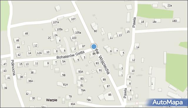 Jaworzno, św. Wojciecha, 95, mapa Jaworzno