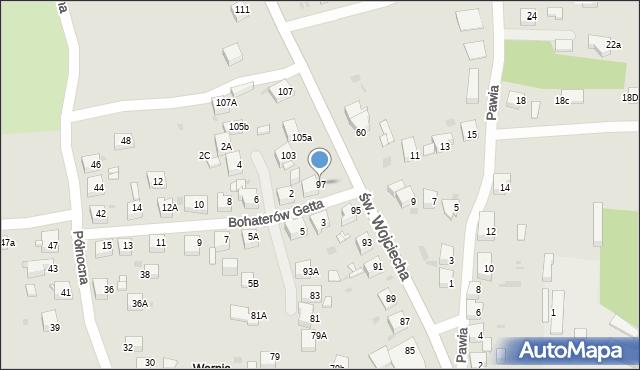 Jaworzno, św. Wojciecha, 97, mapa Jaworzno