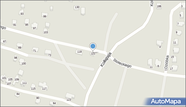 Jaworzno, Świstackiego, 121, mapa Jaworzno