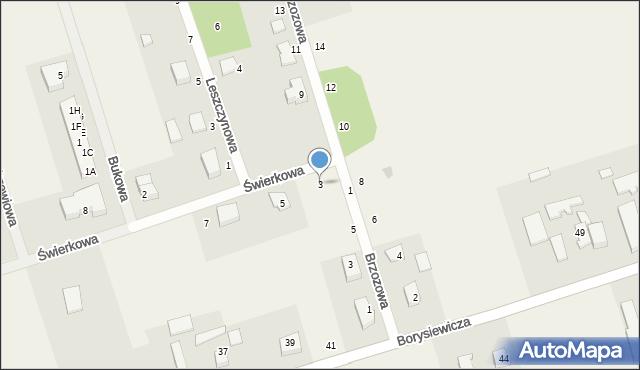 Kochanowo, Świerkowa, 3, mapa Kochanowo