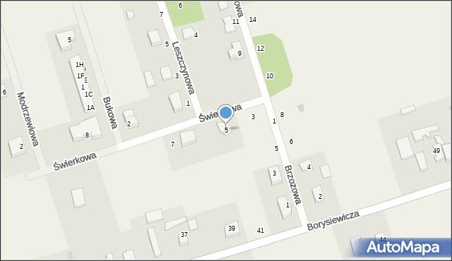 Kochanowo, Świerkowa, 5, mapa Kochanowo