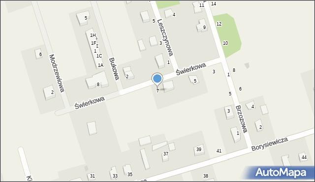 Kochanowo, Świerkowa, 7, mapa Kochanowo