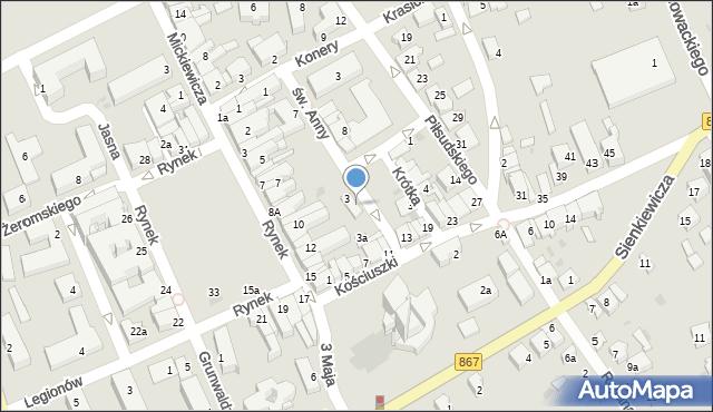 Lubaczów, św. Anny, 3, mapa Lubaczów