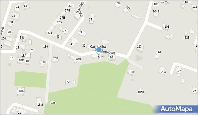 Mikołów, Świerkowa, 24, mapa Mikołów