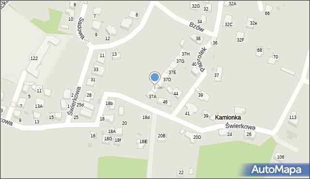 Mikołów, Świerkowa, 37b, mapa Mikołów