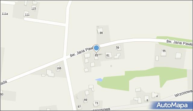 Nidek, św. Jana Pawła II, 63, mapa Nidek