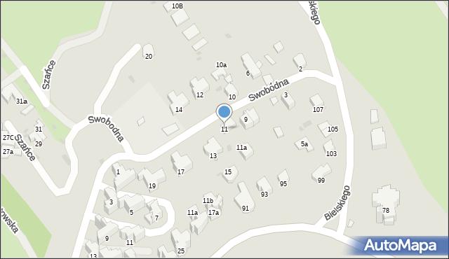 Przemyśl, Swobodna, 11, mapa Przemyśla