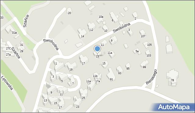 Przemyśl, Swobodna, 13, mapa Przemyśla
