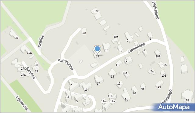 Przemyśl, Swobodna, 14, mapa Przemyśla