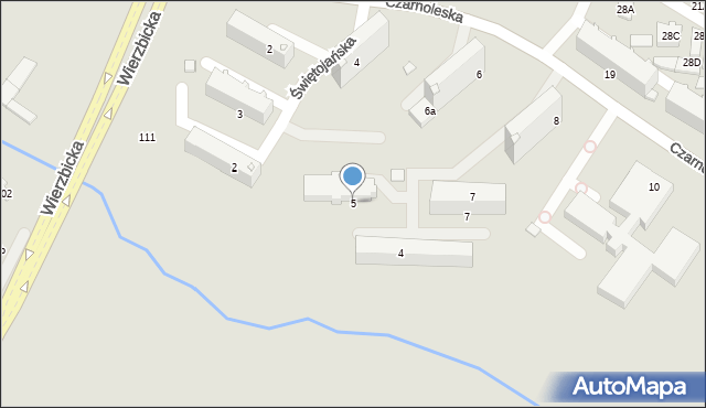 Radom, Świętojańska, 5, mapa Radomia