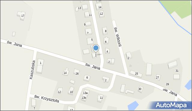 Robakowo, św. Antoniego, 1, mapa Robakowo
