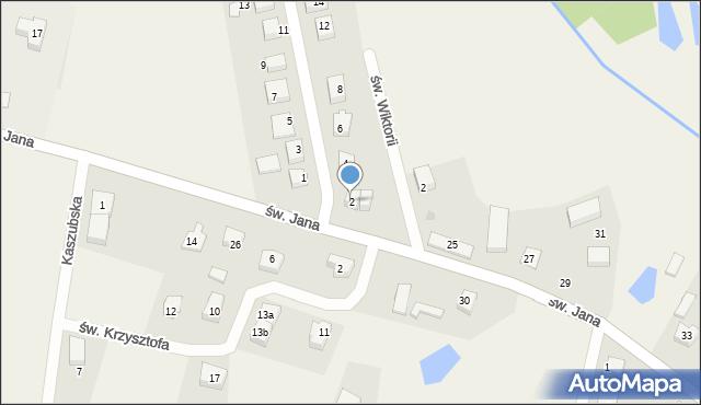 Robakowo, św. Antoniego, 2, mapa Robakowo