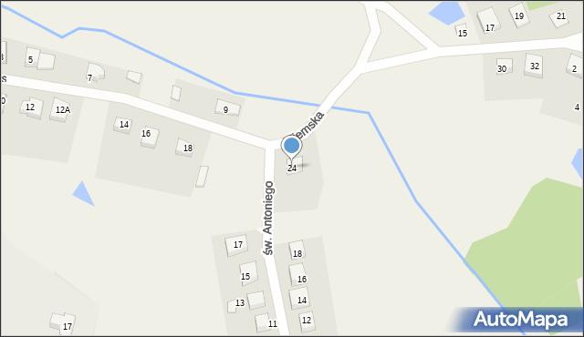 Robakowo, św. Antoniego, 24, mapa Robakowo