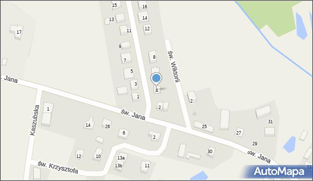 Robakowo, św. Antoniego, 4, mapa Robakowo
