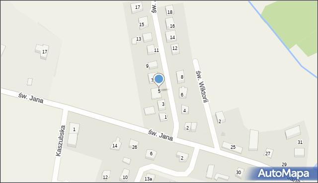 Robakowo, św. Antoniego, 5, mapa Robakowo