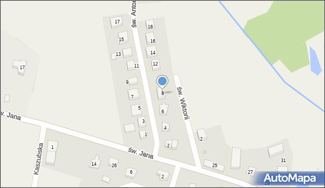 Robakowo, św. Antoniego, 8, mapa Robakowo