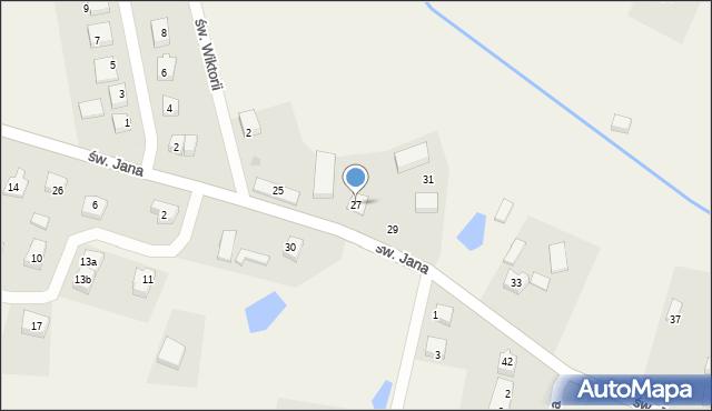 Robakowo, św. Jana, 27, mapa Robakowo
