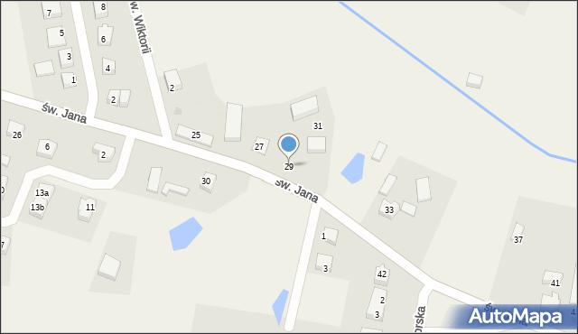 Robakowo, św. Jana, 29, mapa Robakowo