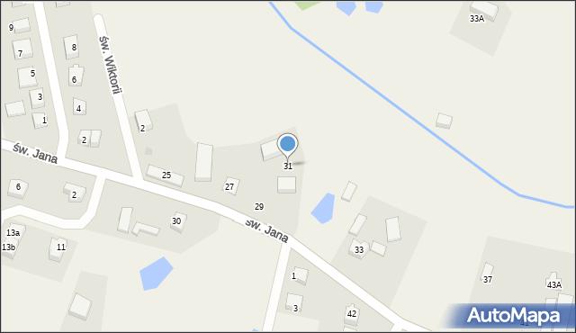 Robakowo, św. Jana, 31, mapa Robakowo