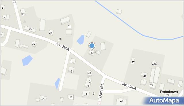 Robakowo, św. Jana, 33, mapa Robakowo
