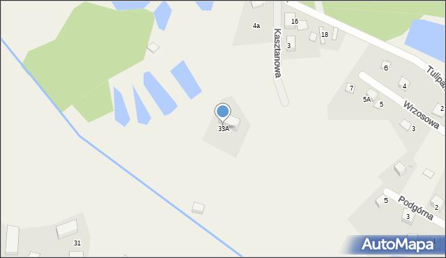 Robakowo, św. Jana, 33A, mapa Robakowo