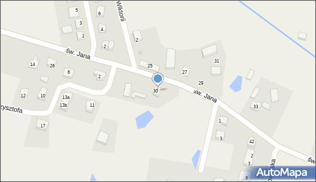 Robakowo, św. Jana, 34, mapa Robakowo