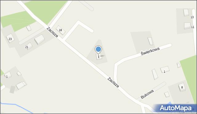 Robakowo, Świerkowa, 1, mapa Robakowo
