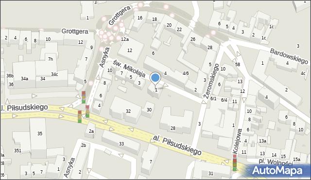 Rzeszów, św. Mikołaja, 1, mapa Rzeszów