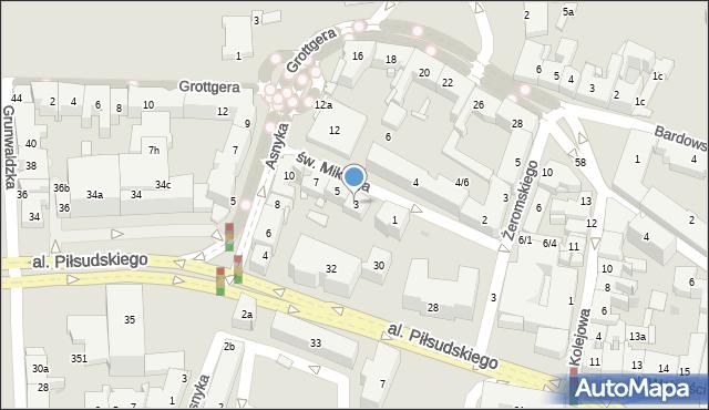 Rzeszów, św. Mikołaja, 3, mapa Rzeszów