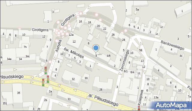 Rzeszów, św. Mikołaja, 4, mapa Rzeszów