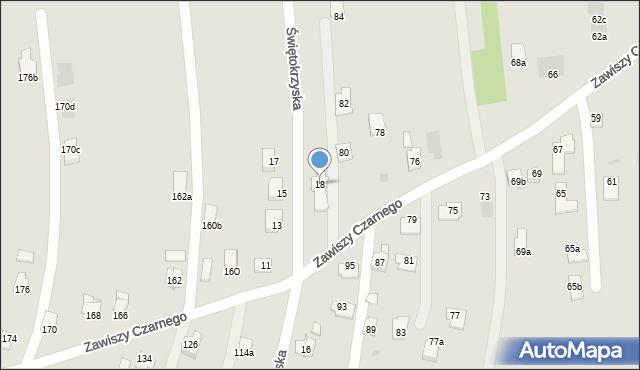 Rzeszów, Świętokrzyska, 18, mapa Rzeszów