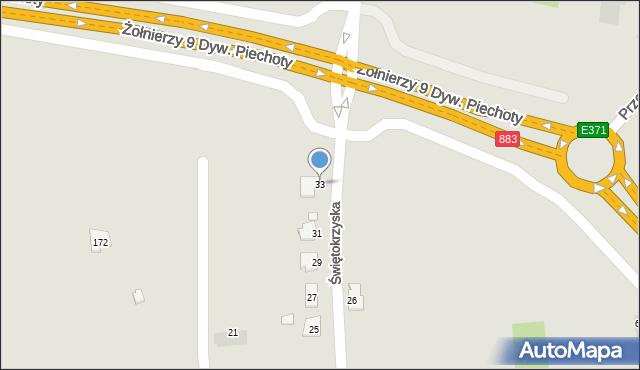 Rzeszów, Świętokrzyska, 33, mapa Rzeszów