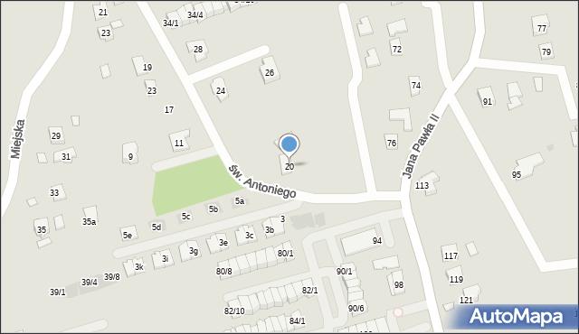 Rzeszów, św. Antoniego, 20, mapa Rzeszów
