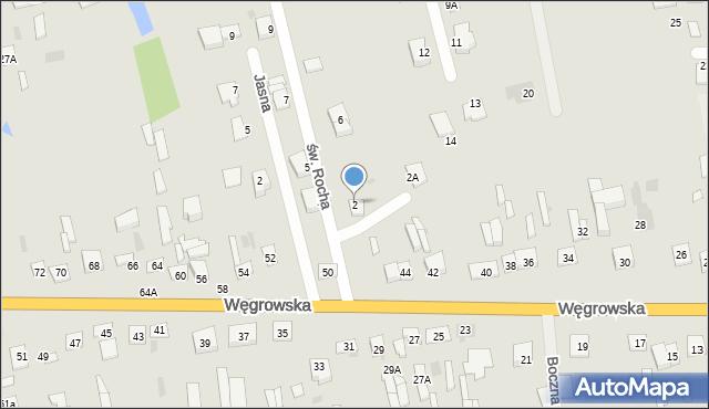Sokołów Podlaski, św. Rocha, 2, mapa Sokołów Podlaski