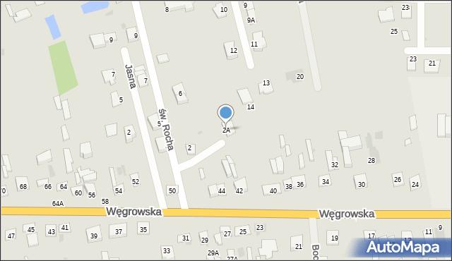 Sokołów Podlaski, św. Rocha, 2A, mapa Sokołów Podlaski