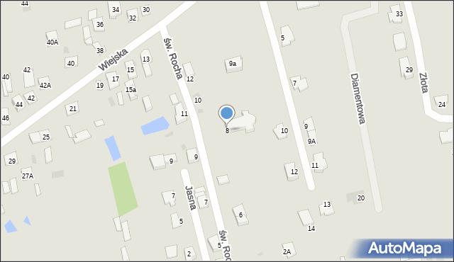 Sokołów Podlaski, św. Rocha, 8, mapa Sokołów Podlaski