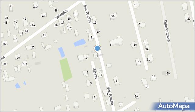 Sokołów Podlaski, św. Rocha, 9, mapa Sokołów Podlaski