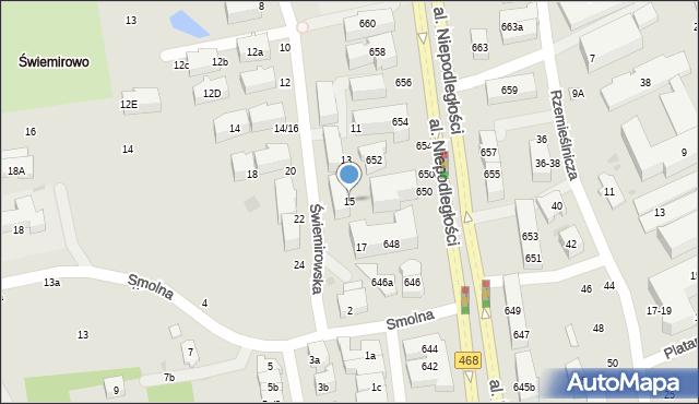 Sopot, Świemirowska, 15, mapa Sopotu
