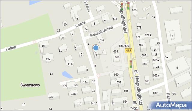 Sopot, Świemirowska, 3, mapa Sopotu
