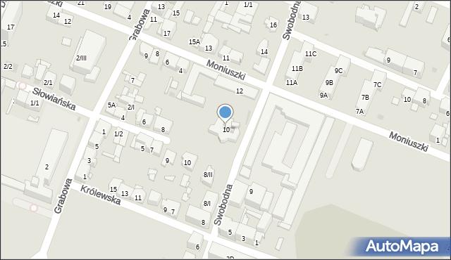Sosnowiec, Swobodna, 10, mapa Sosnowca
