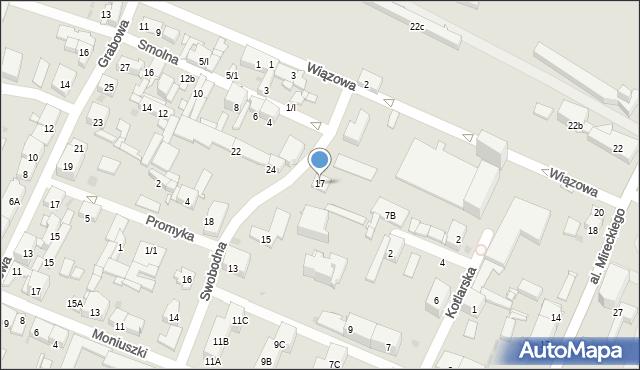 Sosnowiec, Swobodna, 17, mapa Sosnowca