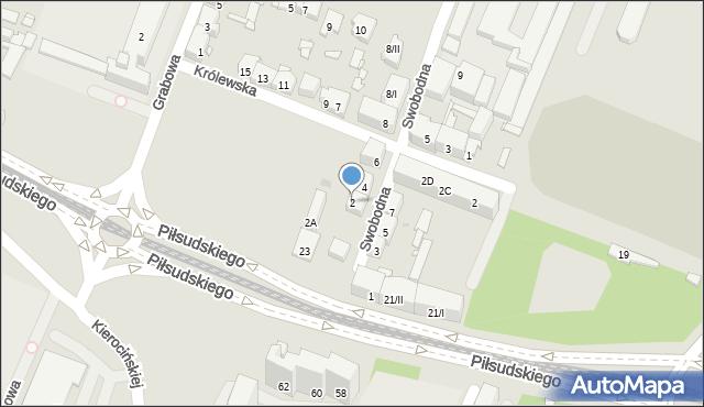Sosnowiec, Swobodna, 2, mapa Sosnowca