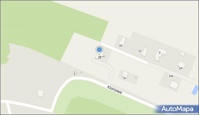 Świerkocin, Świerkocin, 1E, mapa Świerkocin