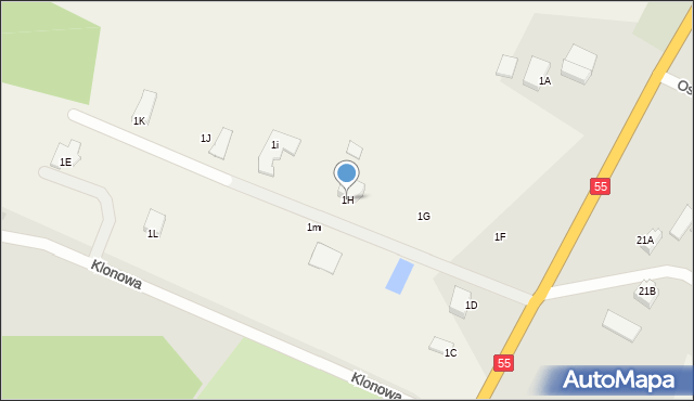 Świerkocin, Świerkocin, 1H, mapa Świerkocin
