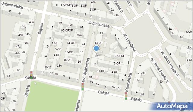 Szczecin, św. Wojciecha, 12, mapa Szczecina
