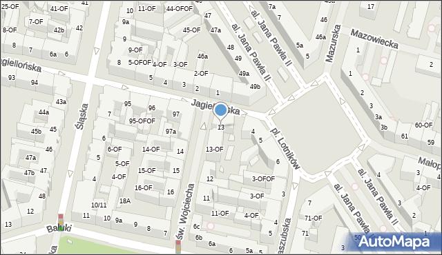 Szczecin, św. Wojciecha, 13, mapa Szczecina
