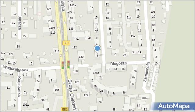 Toruń, św. Andrzeja Boboli, 1, mapa Torunia