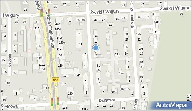Toruń, św. Andrzeja Boboli, 10, mapa Torunia